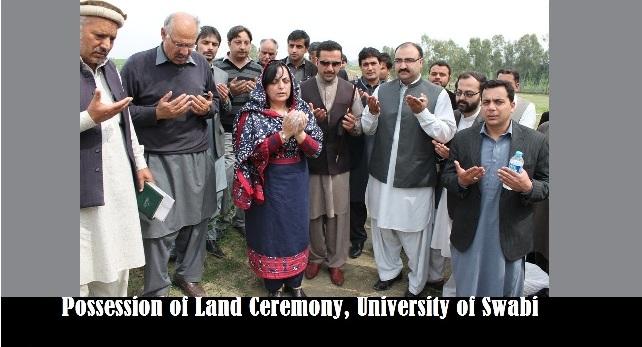 Possession of Land Ceremony, University of Swabi