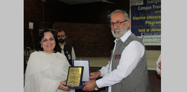 Opening Ceremony of five-day Indigenous on Campus Training Workshop under Modern University Governance Program of HEC Held at University of Swabi