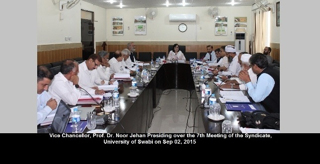 7th Meeting of Syndicate of the University of Swabi