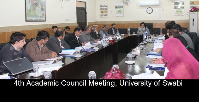 4th Academic Council Meeting, University of Swabi
