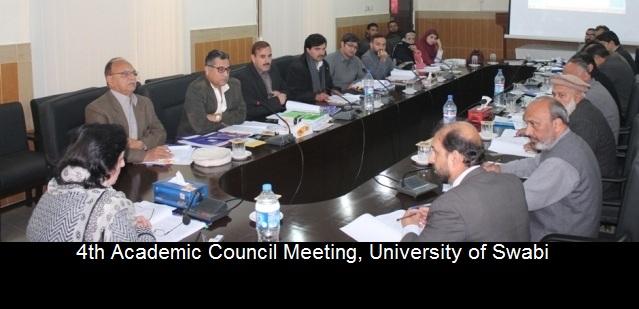 4th Academic Council Meeting, University of Swabi