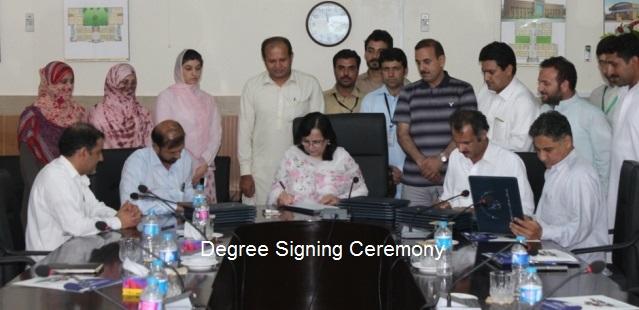 Degree Signing Ceremony