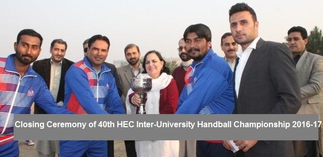 Closing Ceremony of 40th HEC Inter-University Handball Championship 2016-17