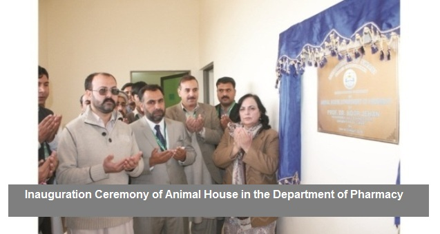 Inauguration Ceremony of Animal House in the Department of Pharmacy