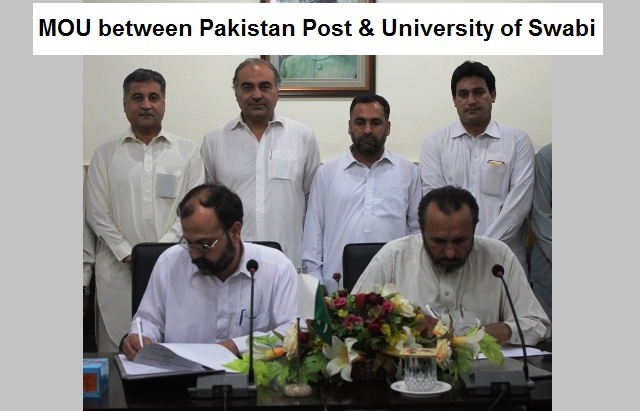 MOU between Pakistan Post & University of Swabi