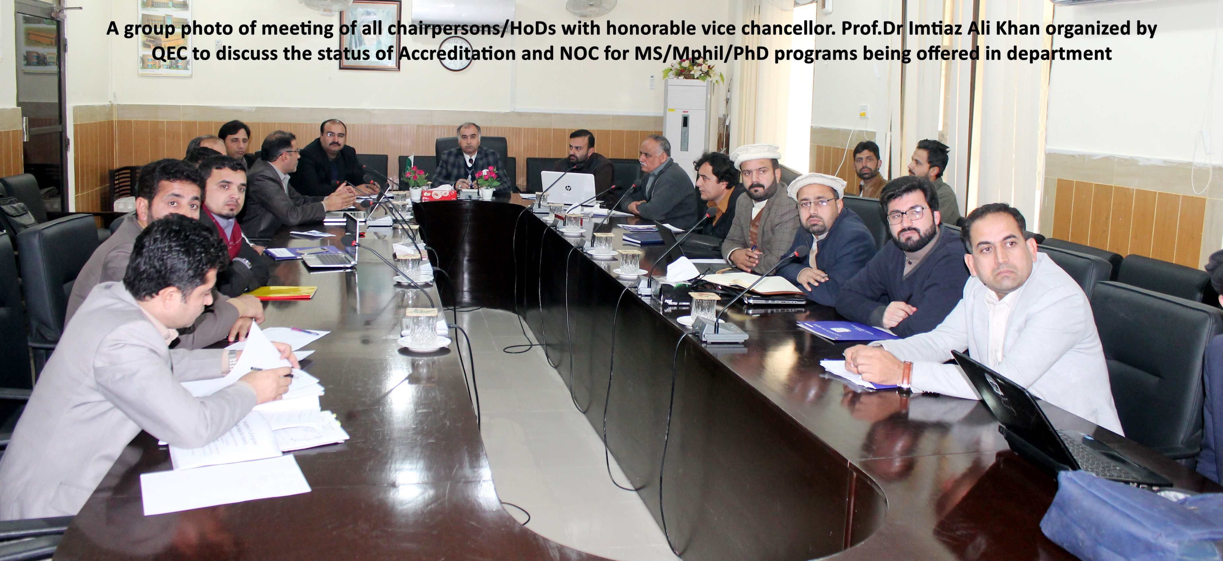 QEC to discuss the status of Accreditation and NOC for MS/Mphil/PhD programs being offered in department