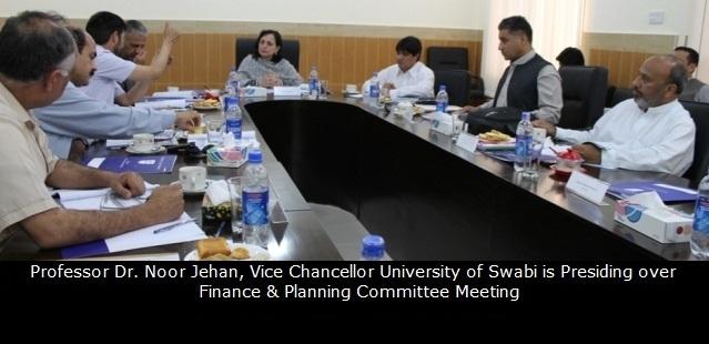 Professor Dr. Noor JePresiding ovFinance and Planning Committee Meeting