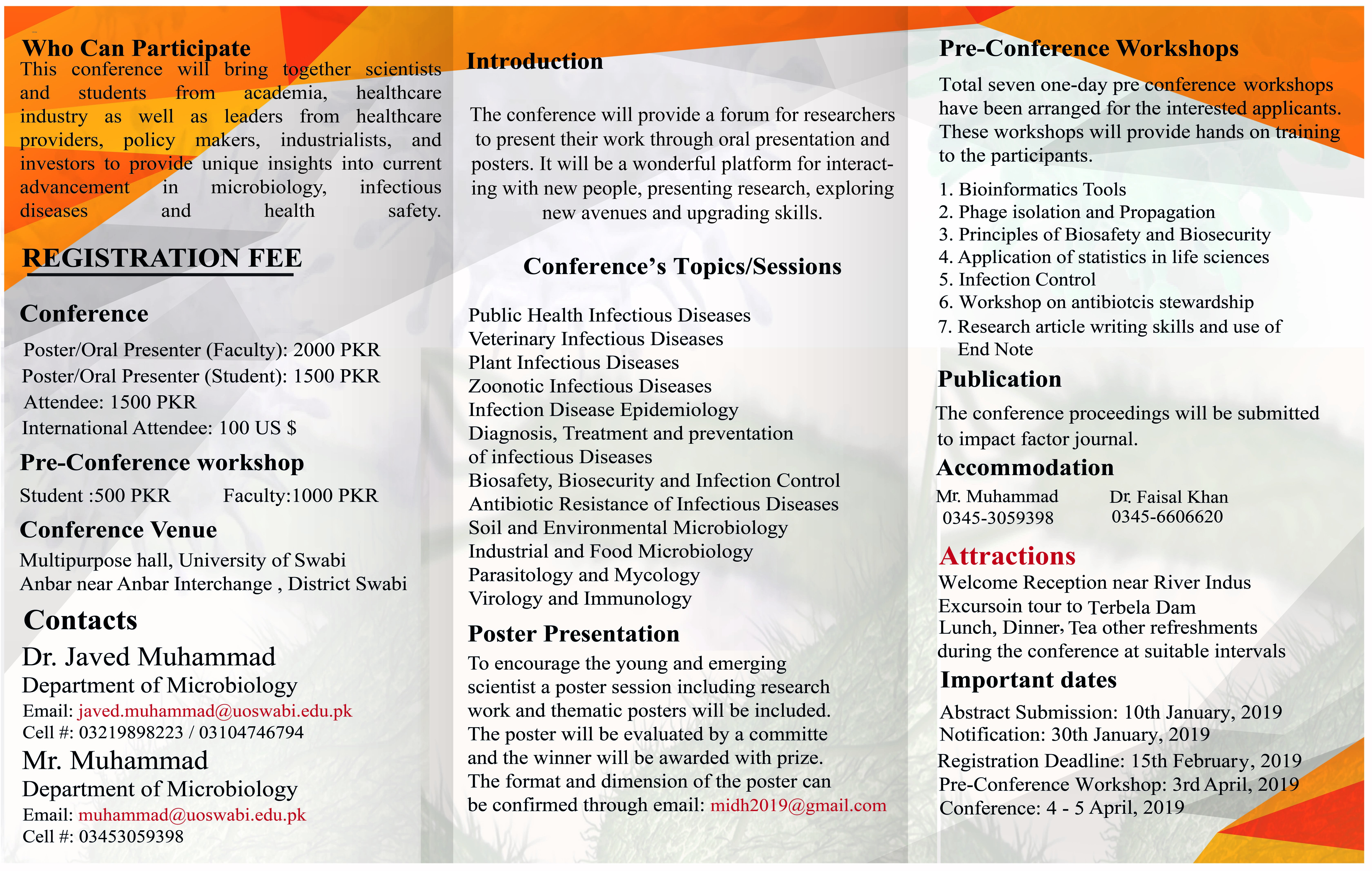 1st National Conference on Microbiology , Infectious