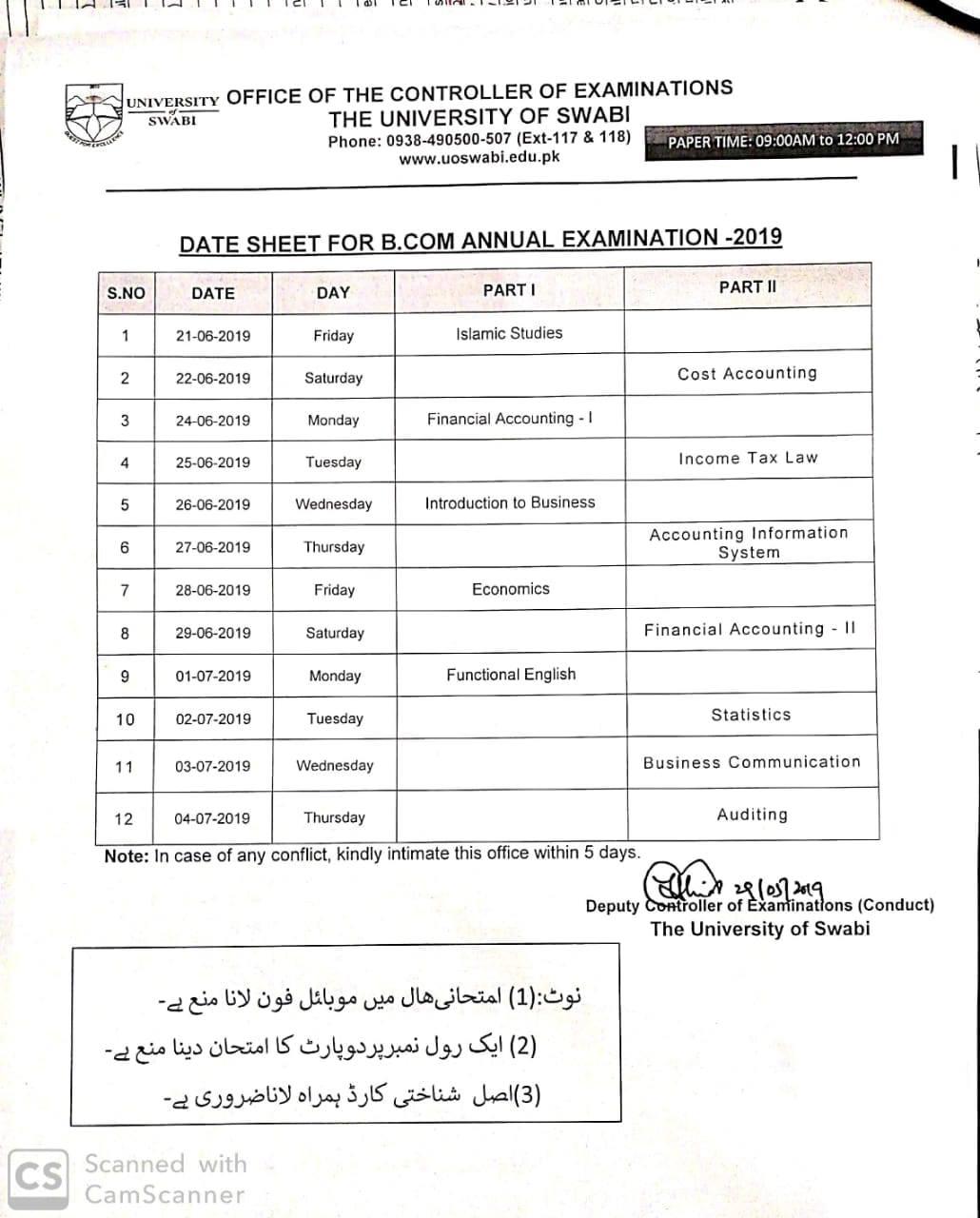 Uos exam timetable